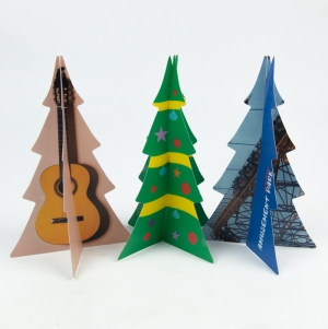 CHRISTMAS TREE 20CM FULL COLOR PRINT 2 SIDES