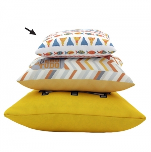 PILLOW WITH FILLING, POLYESTER, FULL COLOR PRINT