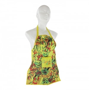 APRON WITH POCKET FOR KIDS, POLYESTER, FULL COLOR PRINT