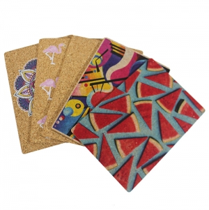CORK MOUSE PAD 4 COLORS 1 SIDE 21X15CMS
